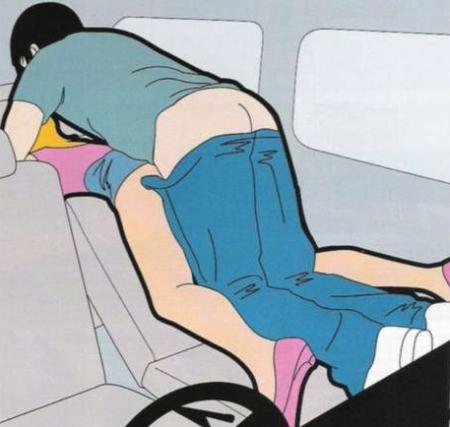 Секс в машине позы секса
